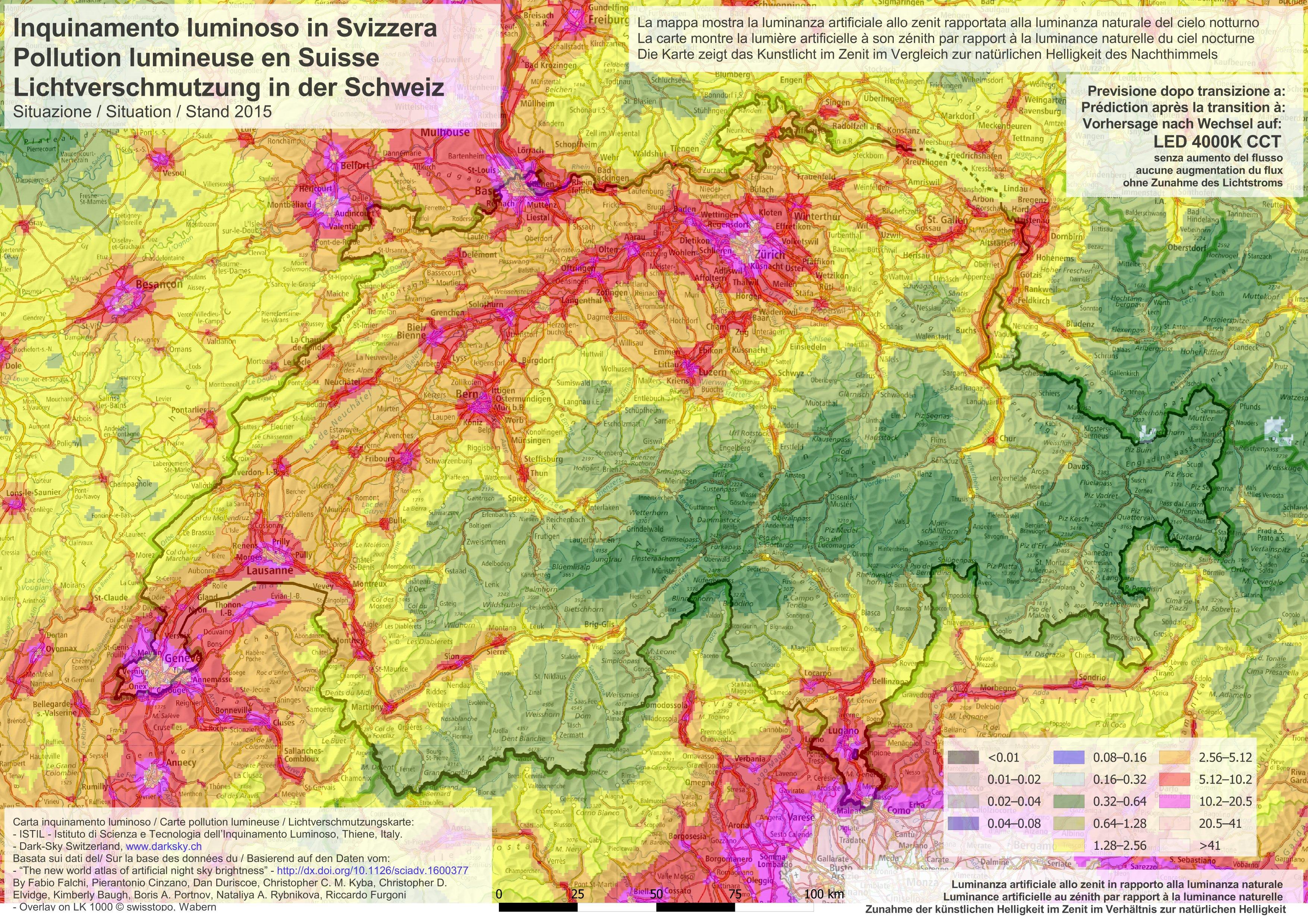 Lichtverschmutzung Karte 2019.20 10 2016 Forscher Warnen Effiziente Led Verdoppeln
