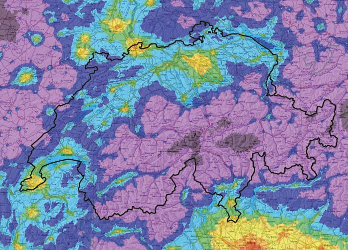 Inquinamento Luminoso in Svizzera