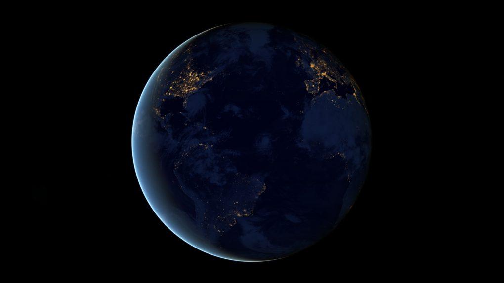 NASA Erde bei Nacht
