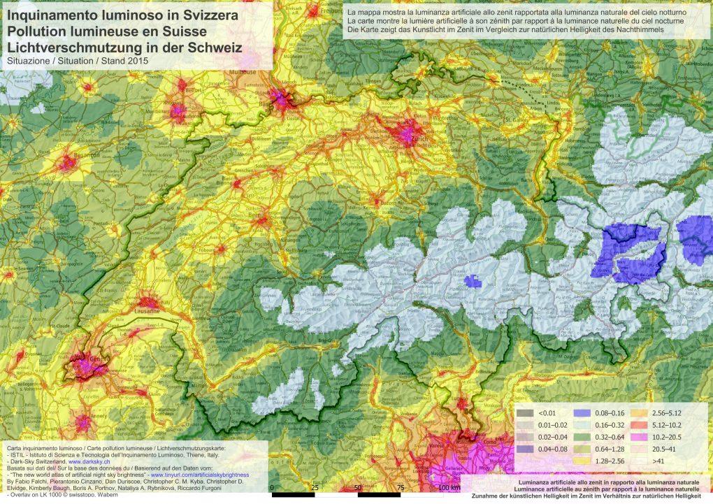 Lichtverschmutzung Karte 2019.Lichtverschmutzung Dark Sky Switzerland
