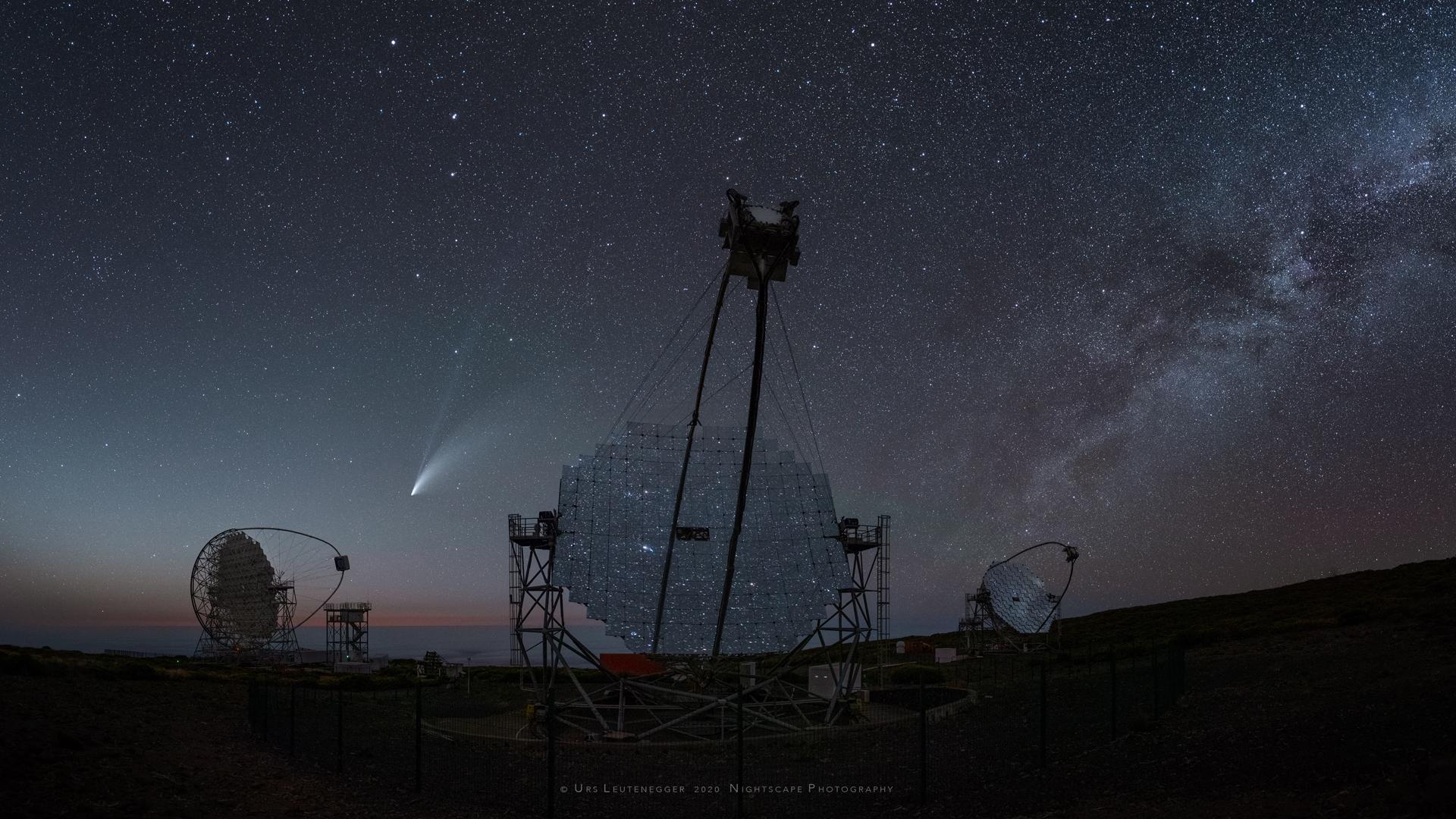 Komet Neowise © Urs Leutenegger auf La Palma, Kanarische Inseln