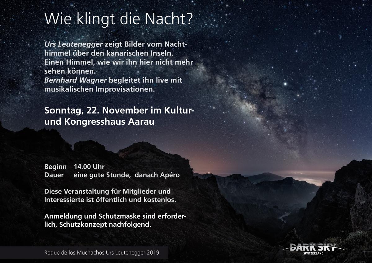 Wie klingt die Nacht? Sonntag 22. November im Kultur und Kongresshaus Aarau 14.00 Uhr