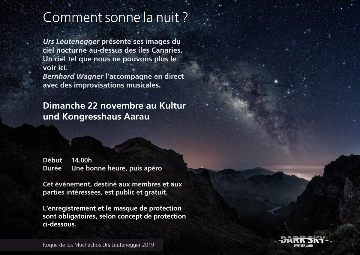 Comment sonne la nuit ? Dimanche 22 novembre au Kultur und Kongresshaus Aarau, 14h