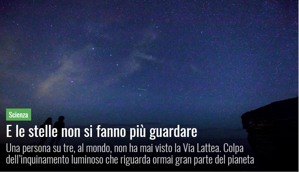PANORAMA: E le stelle non si fanno più guardare